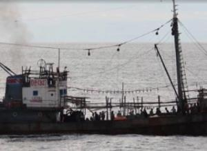 沈没した北朝鮮の漁船