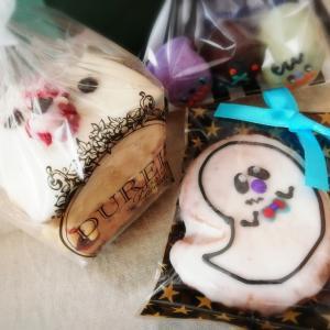 ハロウィンクッキーと花壇とゆうんぽ