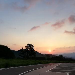 三瓶山で迎えた朝/^o^\