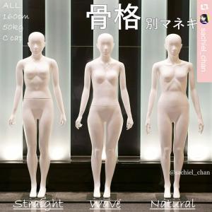 「骨格診断3タイプ別マネキン」を制作したイメコンのサキエルちゃん。着物にも応用可!