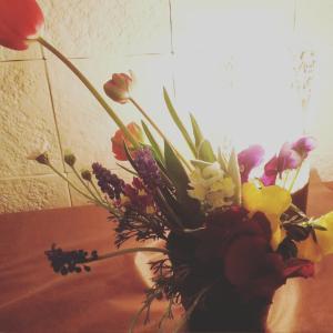 優しいお花と声明