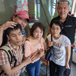全盲難聴・のんたんの夏休み 3 - 西亀有ギャラリーで、26歳のお祝い(2021年8月9日/3日め)