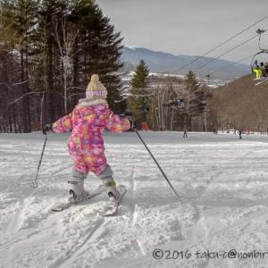 娘の人生初スキーに行ったのシャトレーゼスキーリゾート八ヶ岳!