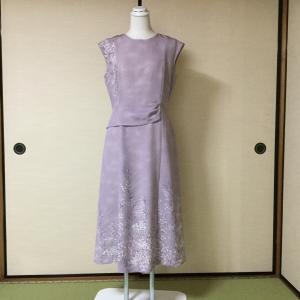 着物からリメイク 結婚式に着用したドレス