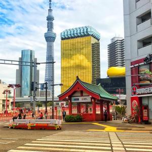 浅草散策中〜〜!海外からの8割の観光者は浅草、谷中、上野に!