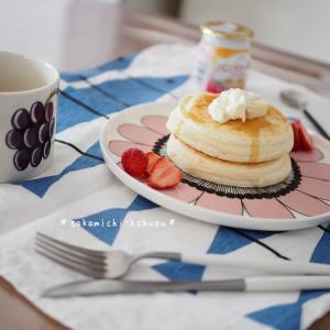 * パンケーキで朝ごはんと娘の誕生日* 