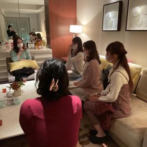 インフィニティアドバンス講座懇親会inパレスホテル スイートルーム