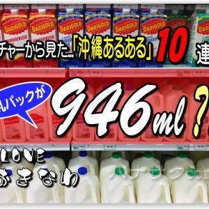 ナイチャー目線の「沖縄あるある10連発♪」牛乳パックが「946ml?!」この地名...読める??海には浸かるのに お風呂にはつからず...シャワーだけ? 誰得 雑学トリビア