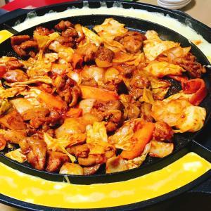 オットの韓国料理。