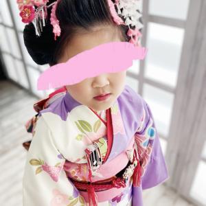 七歳七五三の前撮り〜日本髪。