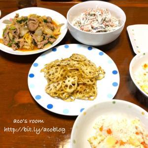 クリスマスに贅沢するなら何する?【晩ごはん】豚肉と白菜のキムチ炒め、ごぼうサラダetc.