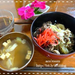 今日は秋分の日【晩ごはん】牛丼
