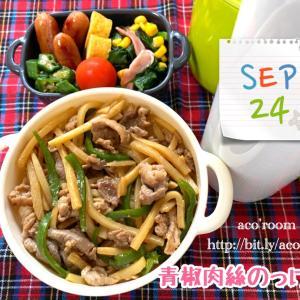 今日は清掃の日【次男弁当】青椒肉絲のっけ弁【晩ごはん】鶏むね肉の玉ねぎソース