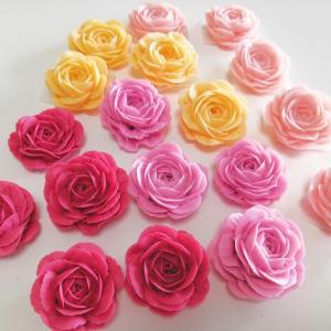 ☆増えてきました♪ ひたすら手作り石けんでお花絞り♪☆