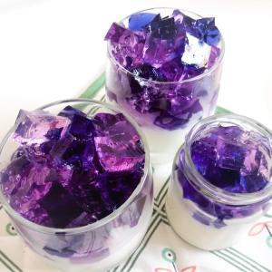 季節外れの紫陽花ゼリー