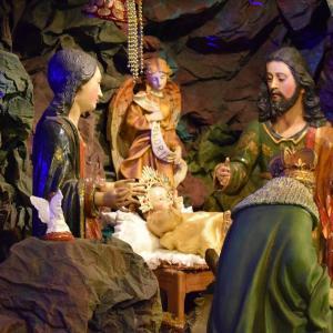 リマ メルセー教会、仕舞い忘れの生誕飾り