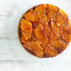 オレンジでアップサイドダウンケーキ♪