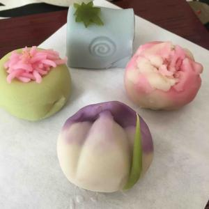 季節感  和菓子とお花
