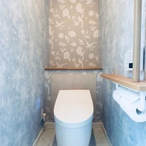 *Web内覧会 10* 大好きなブルー&グレーな2階トイレ