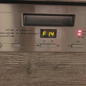 食洗機ミーレ 突然の運転休止  エラーコードF14って?