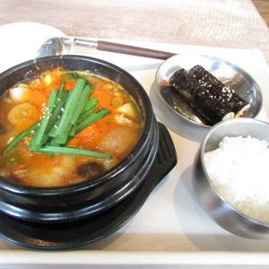 「本日オープン、神戸国際会館の南東ビル2Fの韓国料理研究所~スンドゥブ鶏キムチチゲ~出汁味」