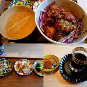 「先週オープン、JR摂津本山駅北東のシェアキッチンで土曜のみ営業の出汁料理の店~とり唐揚げ」