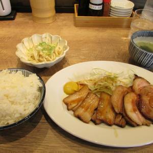 「本日オープン、阪神電車新在家駅東改札南東の焼豚食堂~焼豚皿定食ミックス~とろとろ甘~い」