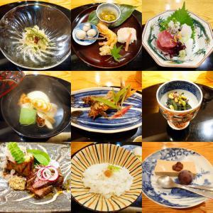 「ミシュラン二つ星獲得、相楽園北東の日本料理店~夜のおまかせ料理~鱧の茶巾豆腐・骨せんべい他」