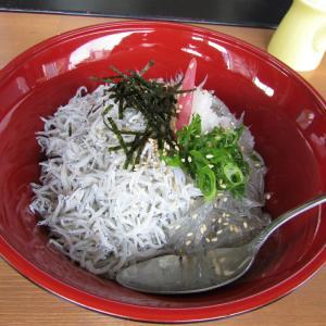 「先々週オープン、JR神戸駅北の高知産しらす丼専門店~しらす&生しらすのハーフ&ハーフ~新鮮」