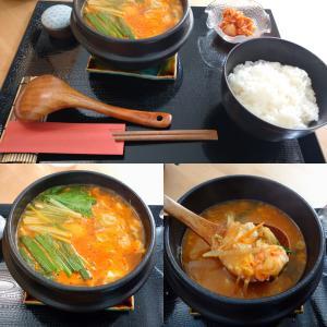 「先月オープン、長田区・市営重池住宅7号棟1Fの冷麺とちげのお店~ちげのセット 海鮮~海鮮風味」