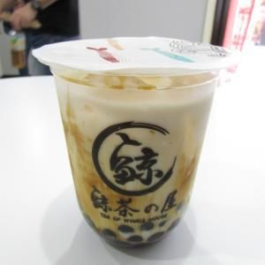 「本日オープン、南京町・西安門北東の黒糖タピオカの専門店(^_^)黒糖タピオカフレッシュミルク」