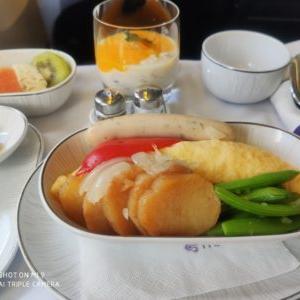 【ビジネスクラス搭乗記】タイ航空TG550バンコクホーチミン便B777-200