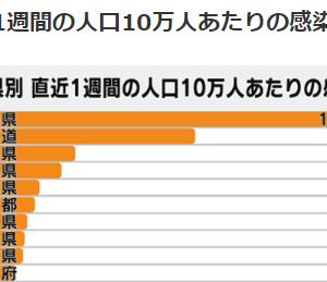 沖縄県知事のBBQのせいか直近1週間の人口10万人あたりの感染者数の過去最多更新!動画集101