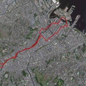 横浜みなとみらい方面へ11kmジョグ