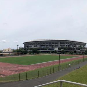 5km走@新横浜公園、月間走行距離の記録更新
