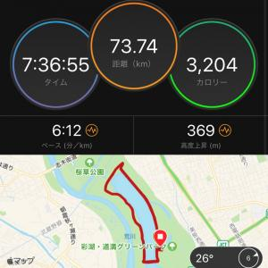 【速報】73.5kmラン! 第26回 8時間耐久レースin戸田・彩湖