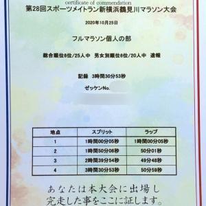 レース後〜スポーツメイトラン新横浜鶴見川マラソン