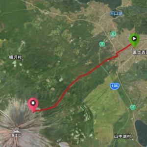 富士登山競走の試走について