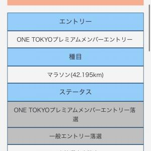 東京マラソン2021エントリー