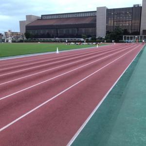 10km走@大和競技場、Nike厚底シューズ