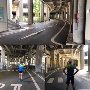 日産スタジアム回廊ジョグ+坂道インターバル走