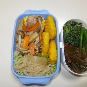 豚肉レンコン炒め・チキンナゲット・糸コン大根