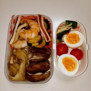 海鮮炒め・焼きシイタケ・マイタケソテー