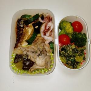塩サバ・イカ炒め・鶏ナス煮物
