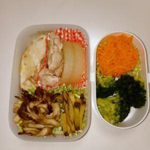 シイラソテー・鶏大根・キノコソテー・サツマイモの醤油煮