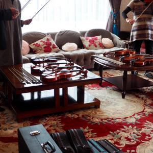 お家で楽器や弓を選定いただけます