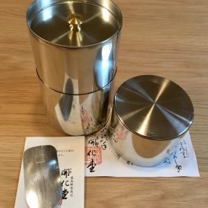 憧れの開化堂の茶筒はやっぱり素敵だった!わが家の鏡餅とお気に入りの三方☆&今年もミスド福袋購入♪