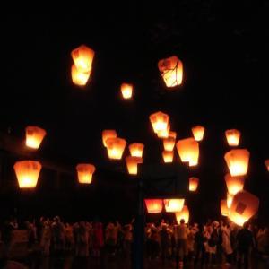 4日間台湾旅行、幻想の十分(ジュウフン)天燈上げ