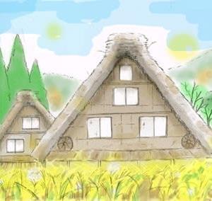 秋黄金色の五箇山・白川郷