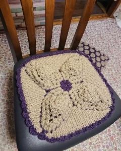 パイナップル編みのざぶとん